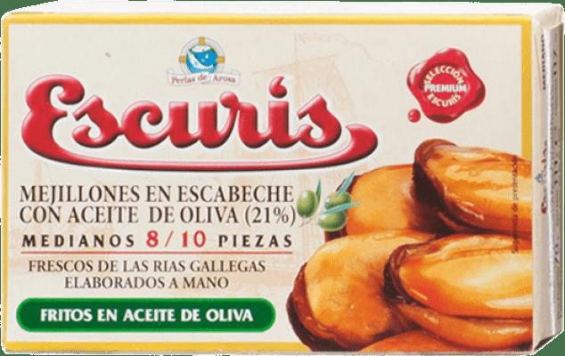 6,95 € Envoi gratuit | Conservas de Marisco Escurís Mejillón en Escabeche Espagne 8/10 Pièces