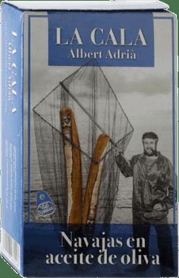 13,95 € | Conservas de Marisco La Cala Navajas en Aceite de Oliva Spain 6/8 Pieces