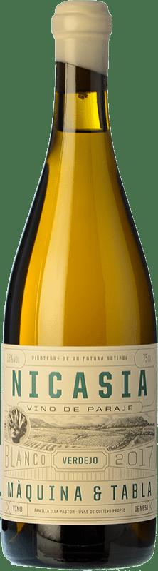 19,95 € Envío gratis | Vino blanco Máquina & Tabla Nicasia D.O. Rueda Castilla y León España Verdejo Botella 75 cl