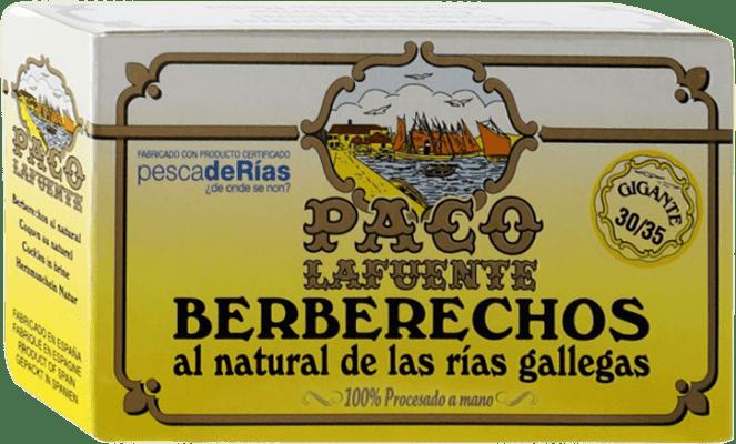 15,95 € Free Shipping | Conservas de Marisco Conservera Gallega Paco Lafuente Berberechos Galicia Spain 30/35 Pieces