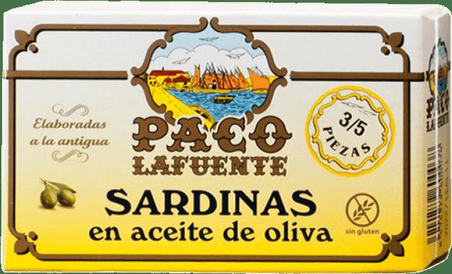 2,95 € Envoi gratuit | Conservas de Pescado Conservera Gallega Paco Lafuente Sardinas en Aceite de Oliva Galice Espagne 3/5 Pièces