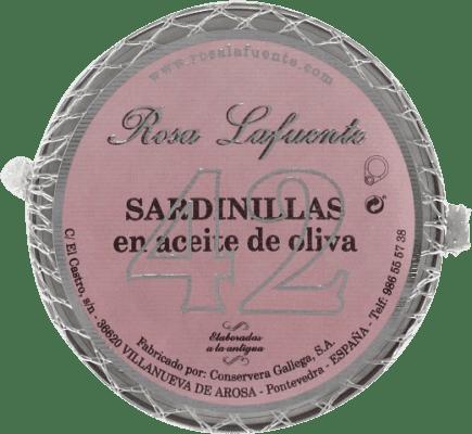 10,95 € Free Shipping | Conservas de Pescado Conservera Gallega Rosa Lafuente Sardinillas en Aceite de Oliva Galicia Spain 42 Pieces