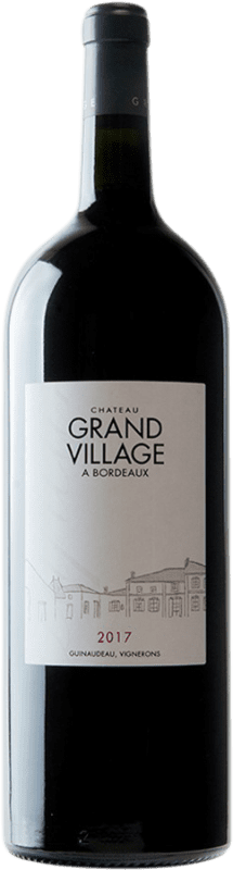 43,95 € Free Shipping | Red wine Château Grand Village Rouge A.O.C. Bordeaux Supérieur Bordeaux France Merlot, Cabernet Franc Magnum Bottle 1,5 L