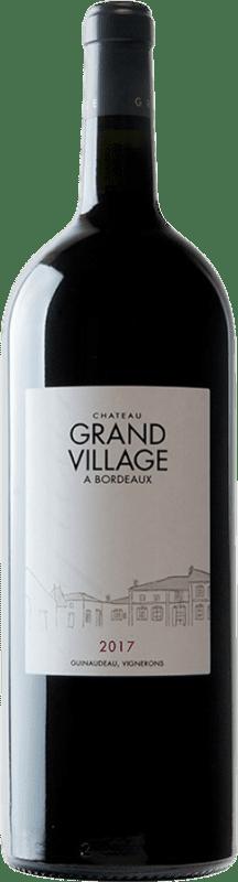 159,95 € Free Shipping | Red wine Château Grand Village Rouge A.O.C. Bordeaux Supérieur Bordeaux France Merlot, Cabernet Franc Jéroboam Bottle-Double Magnum 3 L