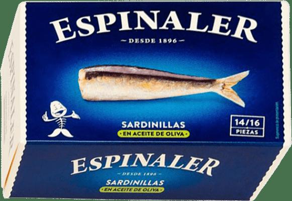 3,95 € Envoi gratuit | Conservas de Pescado Espinaler Sardinillas en Aceite de Oliva Espagne 14/16 Pièces