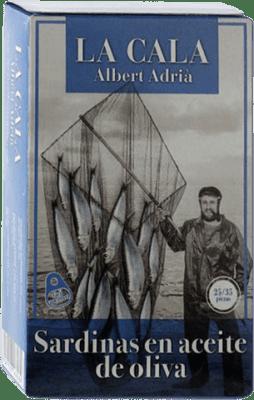 7,95 € Envoi gratuit | Conservas de Pescado La Cala Sardinillas en Aceite de Oliva Espagne 25/35 Pièces
