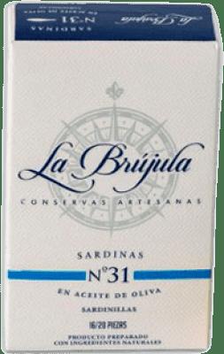 3,95 € 免费送货 | Conservas de Pescado La Brújula Sardinillas en Aceite de Oliva 西班牙 15/20 件