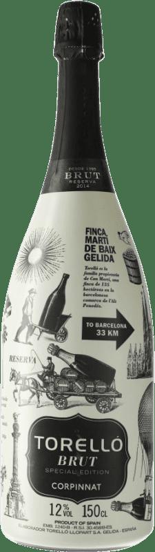 33,95 € Free Shipping   White sparkling Torelló Special Edition Brut Corpinnat Spain Macabeo, Xarel·lo, Parellada Magnum Bottle 1,5 L