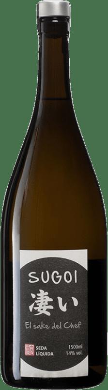 35,95 € Envío gratis | Sake Seda Líquida Sugoi España Botella Mágnum 1,5 L