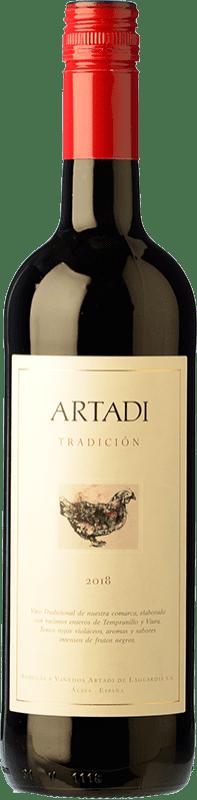 12,95 € 免费送货 | 红酒 Artadi Tradición D.O. Navarra 纳瓦拉 西班牙 瓶子 75 cl