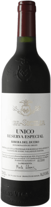 475,95 € Envoi gratuit | Vin rouge Vega Sicilia Único Especial Reserva 2010 D.O. Ribera del Duero Castille et Leon Espagne Tempranillo, Cabernet Sauvignon Bouteille 75 cl