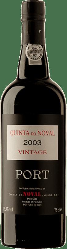 141,95 € Free Shipping | Red wine Quinta do Noval Vintage 2003 I.G. Porto Porto Portugal Touriga Franca, Touriga Nacional, Tinta Roriz, Tinta Barroca Bottle 75 cl