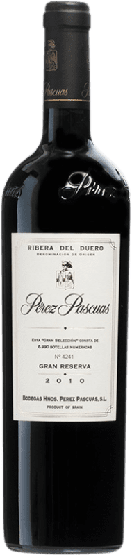 216,95 € 免费送货 | 红酒 Pérez Pascuas Viña Pedrosa Gran Selección 2010 D.O. Ribera del Duero 卡斯蒂利亚莱昂 西班牙 Tempranillo 瓶子 75 cl