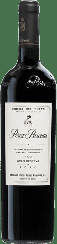 216,95 € Envío gratis | Vino tinto Pérez Pascuas Viña Pedrosa Gran Selección 2010 D.O. Ribera del Duero Castilla y León España Tempranillo Botella 75 cl