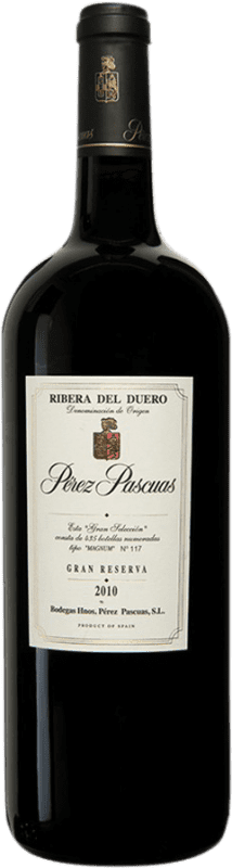 619,95 € | Red wine Pérez Pascuas Viña Pedrosa Gran Selección 2010 D.O. Ribera del Duero Castilla y León Spain Tempranillo Magnum Bottle 1,5 L
