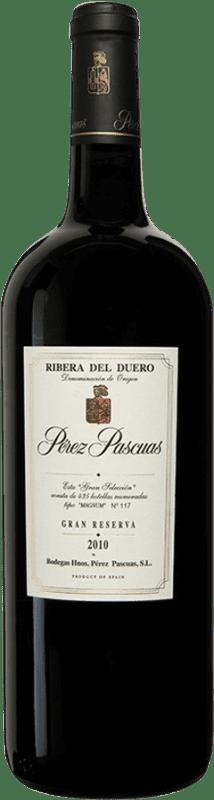 619,95 € Envío gratis | Vino tinto Pérez Pascuas Viña Pedrosa Gran Selección 2010 D.O. Ribera del Duero Castilla y León España Tempranillo Botella Mágnum 1,5 L