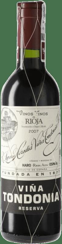 16,95 € Free Shipping   Red wine López de Heredia Viña Tondonia Reserva D.O.Ca. Rioja Spain Tempranillo, Grenache, Graciano, Mazuelo Half Bottle 37 cl