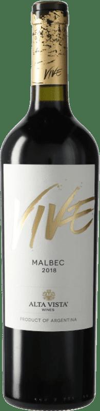 9,95 € Envoi gratuit | Vin rouge Altavista Vive I.G. Mendoza Mendoza Argentine Malbec Bouteille 75 cl