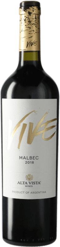 9,95 € Envío gratis   Vino tinto Altavista Vive I.G. Mendoza Mendoza Argentina Malbec Botella 75 cl